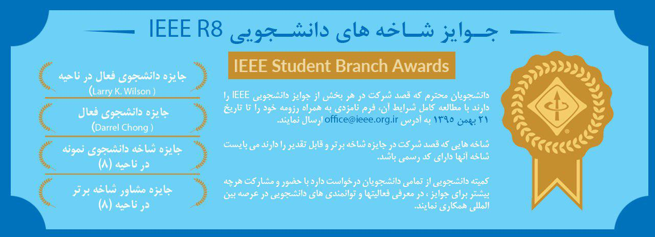 IEEE R8 Student awards